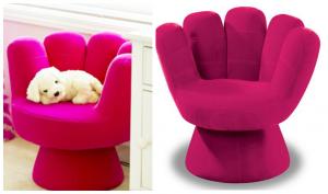 hand shaped chair lumisource pink mitt chair