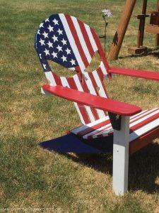hand shaped chair pallet skull adirondack chair