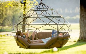hanging chaise lounger chair kodama zome hanging lounge