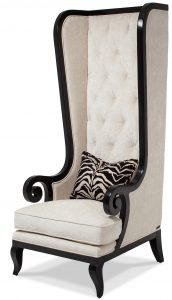 high back chair aico foxie high back chair black onyx fs foxie oys