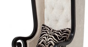 high back chair aico foxie high back chair black onyx fs foxie oys