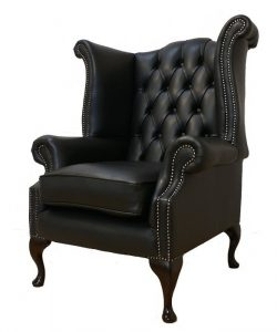 high backed leather office chair chesterfield queen anne high back wing chair uk manufactured black (colorbox)