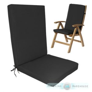 highback patio chair gp g pad black