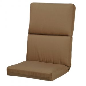 highback patio chair khaki fabric tall back lounge chair cushion pad as well as high back outdoor chair cushions also high back patio chair cushion