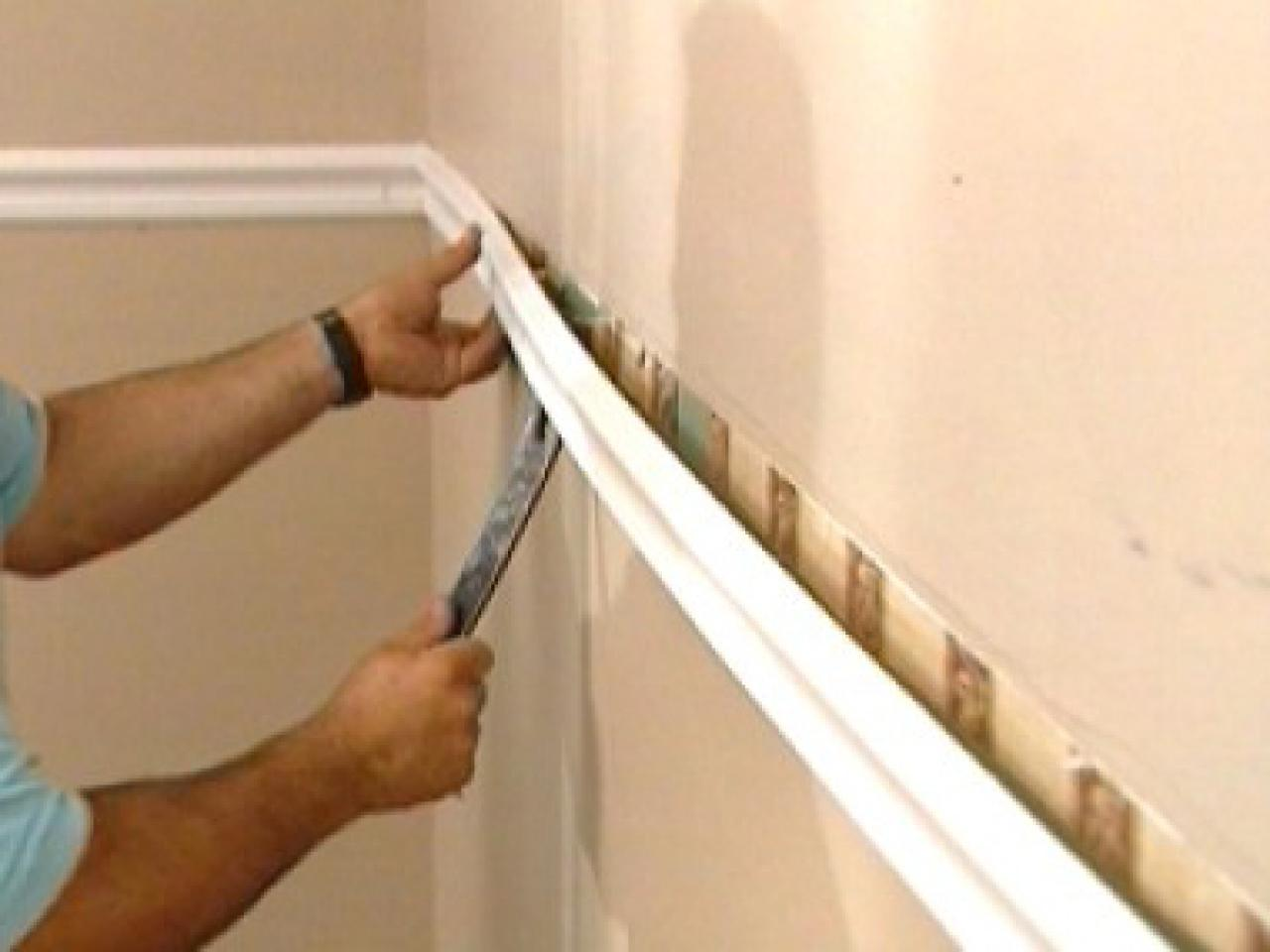 how to install chair rails