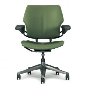human scale chair ergonomic green freedom computer task chair