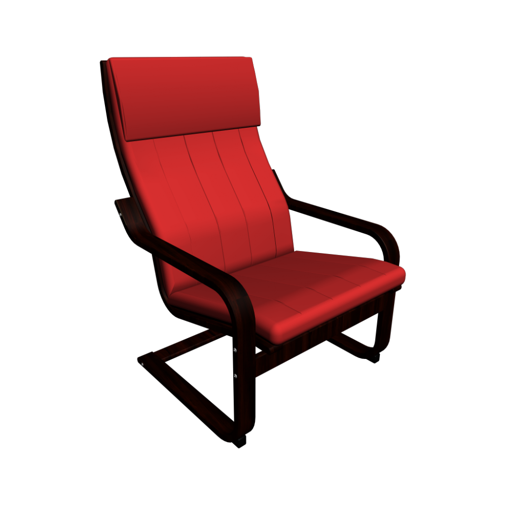 ikea chair with ottoman
