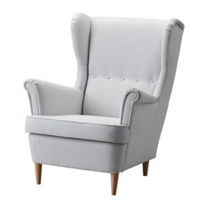 ikea wingback chair strandmon wing chair gray pe s