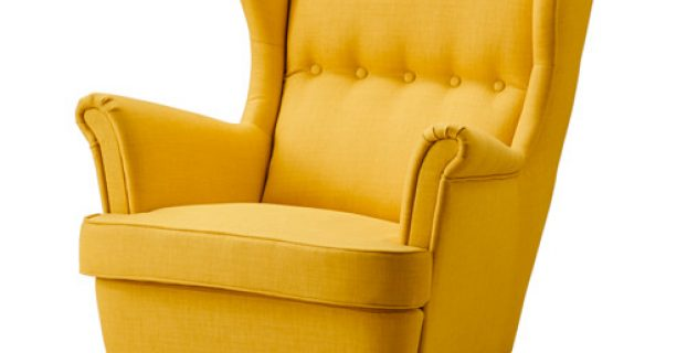 ikea wingback chair strandmon wing chair skiftebo yellow pe s