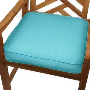 indoor chair cushions aruba blue indoor outdoor inch chair cushion with sunbrella fabric ba ac a bddcabb