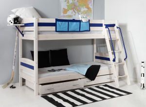 kid room chair nutral wood boy boys bedroom bunk bed