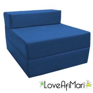 kids foam chair blue