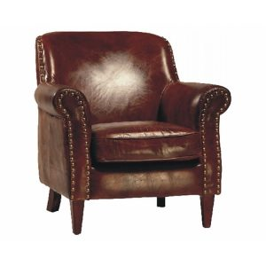 leather dining chair leather club chair worn