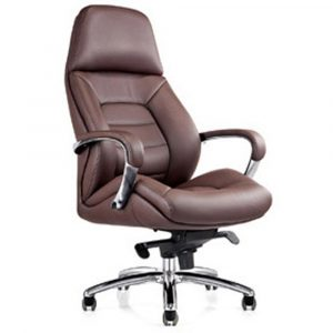 leather executive chair gates genuine leather aluminum base office chair dark brown