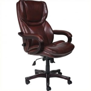 leather office chair l