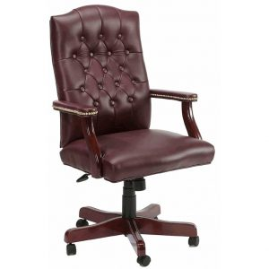 leather office chair leather office chair high back executive traditional swivel chair l burgundy