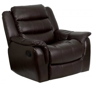 leather recliner chair flash furnitureplush brown leather rocker recliner chair