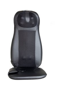 massage chair pad office best massage cushion for chair pad black grey colored leather material cover square base three massage spotsimple design