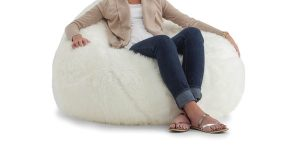 memory foam bean bag chair beansack big joe lux faux fur large teardrop bean bag chair aee c af dec