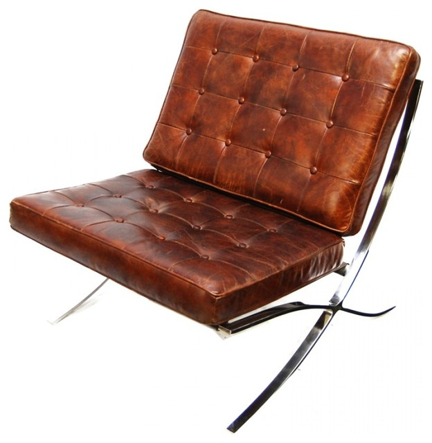 mid century leather chair