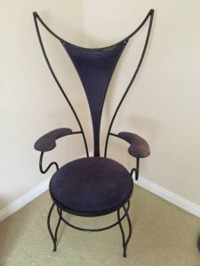 mid century modern dining chair funky wrought iron chair