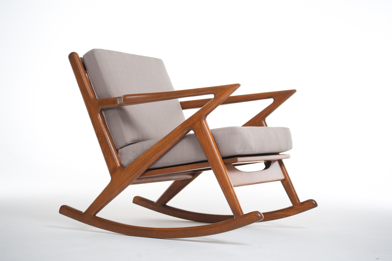 Super Mid Century Modern Rocking Chair Bangkokfoodietour Com Creativecarmelina Interior Chair Design Creativecarmelinacom