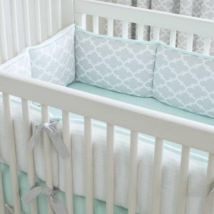 mint green chair french gray and mint quatrefoil crib bedding large()