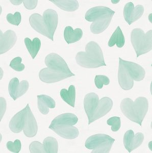 mint green chair mint watercolor hearts fabric large()
