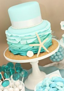 mint green chair turquoise beach wedding