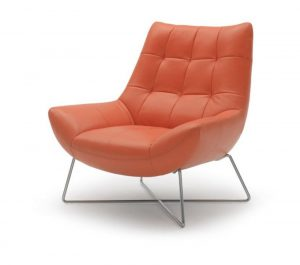 modern leather chair divani casa a modern orange leather lounge chair red