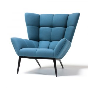 modern wing chair tuulla blue angle