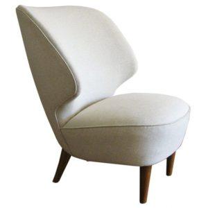 modern wing chair xxx swedish art deco chair side view