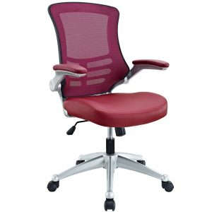modway office chair modway attainment office chair in burgundy
