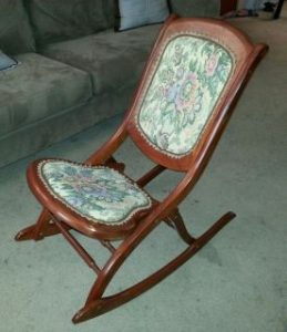 nursing rocking chair vintage folding rocking chair wood sewing nursing rocker