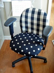 office chair covers blue office chair makeover