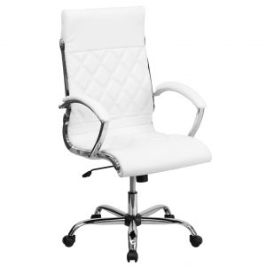 office swivel chair high back designer white leather executive office chair with chrome base go h high white gg