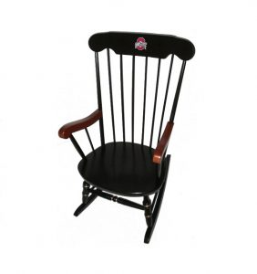 ohio state chair affinity traditional rocking chair osu ath left front