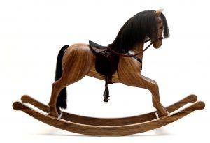 old rocking chair rocking horse premium walnu