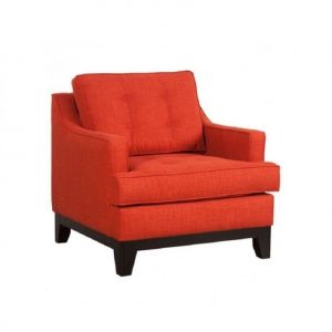 orange accent chair l