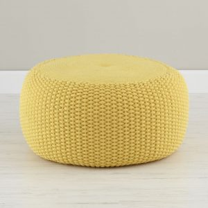 outdoor bean bag chair seating knit pouf ye v r