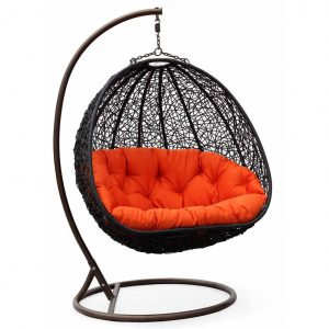 outdoor swing chair two can curl up dual sitting outdoor wicker swing chair