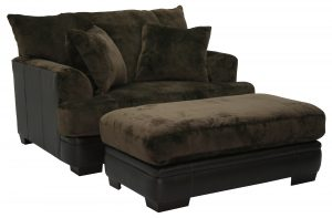 overstuffed chair and ottoman comfy chairs with ottoman lounge chair with ottoman simple with brown color and many pillow