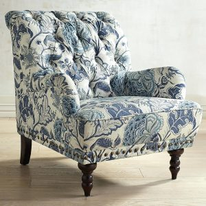 overstuffed chair and ottoman floral oversized chair and ottoman a half with blue accent chairs print armchair button tufted flower carve