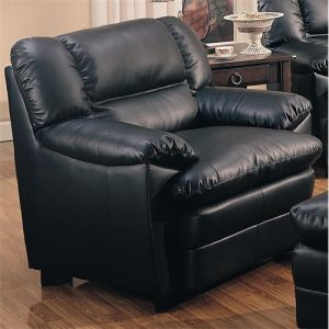overstuffed leather chair coaster furniture