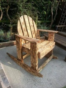 pallet adirondack chair vintage styled scorched pallet wood rocking chair