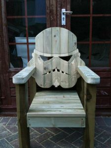 pallet adirondack chair wooden star wars stormtrooper deck chair