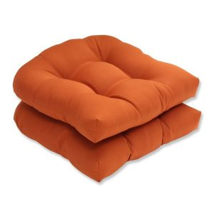 patio chair pads pillow perfect burnt orange outdoor cinnabar wicker seat cushion set of fc cbc c ae adffbad