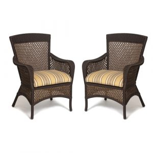 patio chair pads two wicker arm chairs