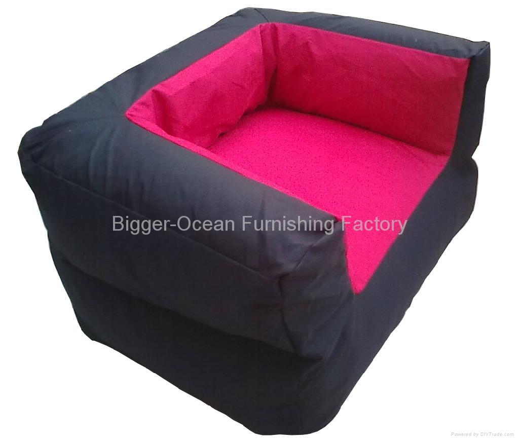 pink bean bag chair