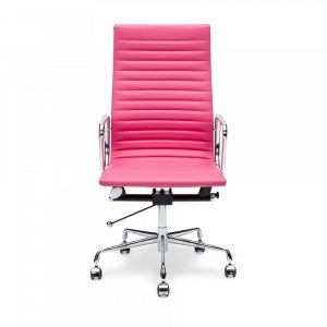 pink office chair
